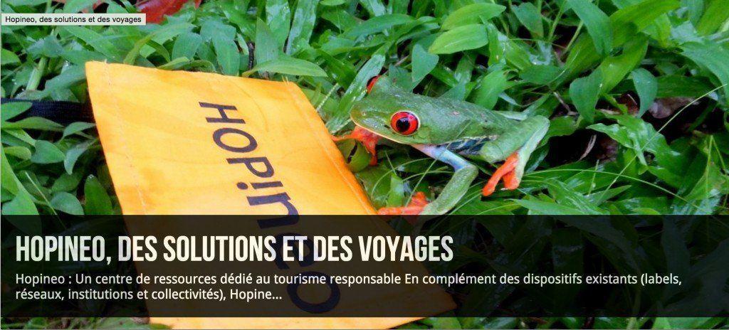 Hopineo association pour le tourisme durable
