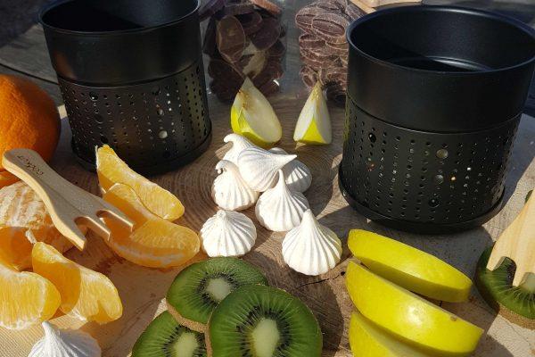 paniers gourmands - fondue chocolat